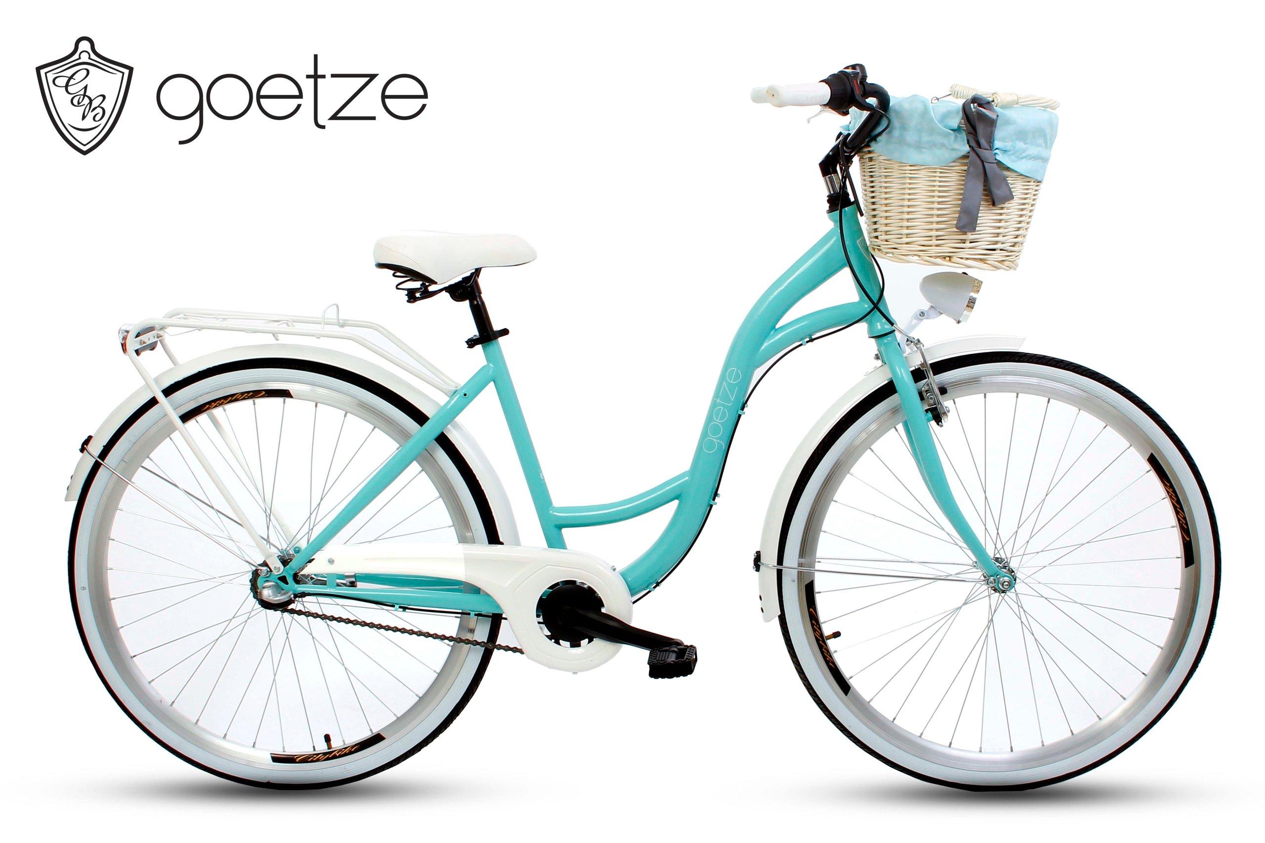 Damenfahrrad Fahrrad mit Korb Citybike Retro Goetze Style 28 Zoll 3 Gang